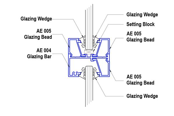T&R Interior Systems - Eclipse 45mm Aluminium Partitioning Suite