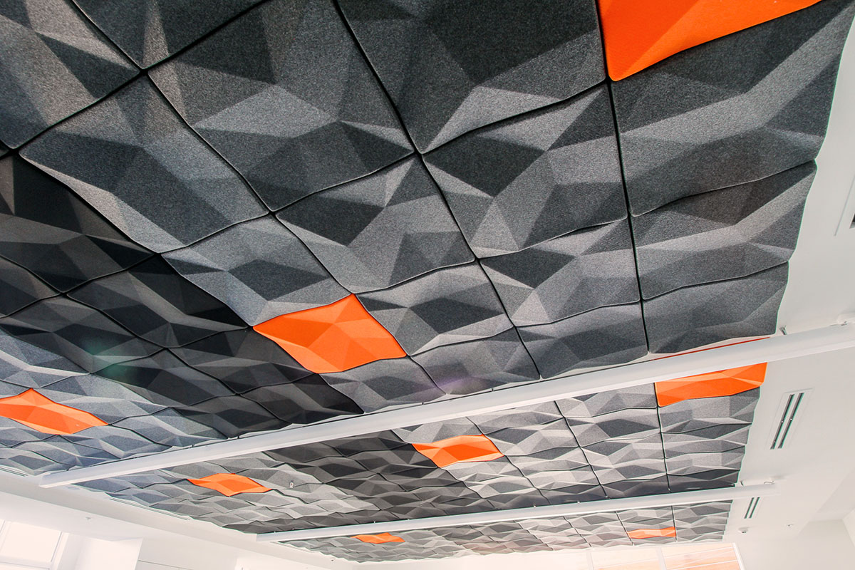 Tr Interior Systems Focus 3d Acoustic Tiles Suspended Ceiling