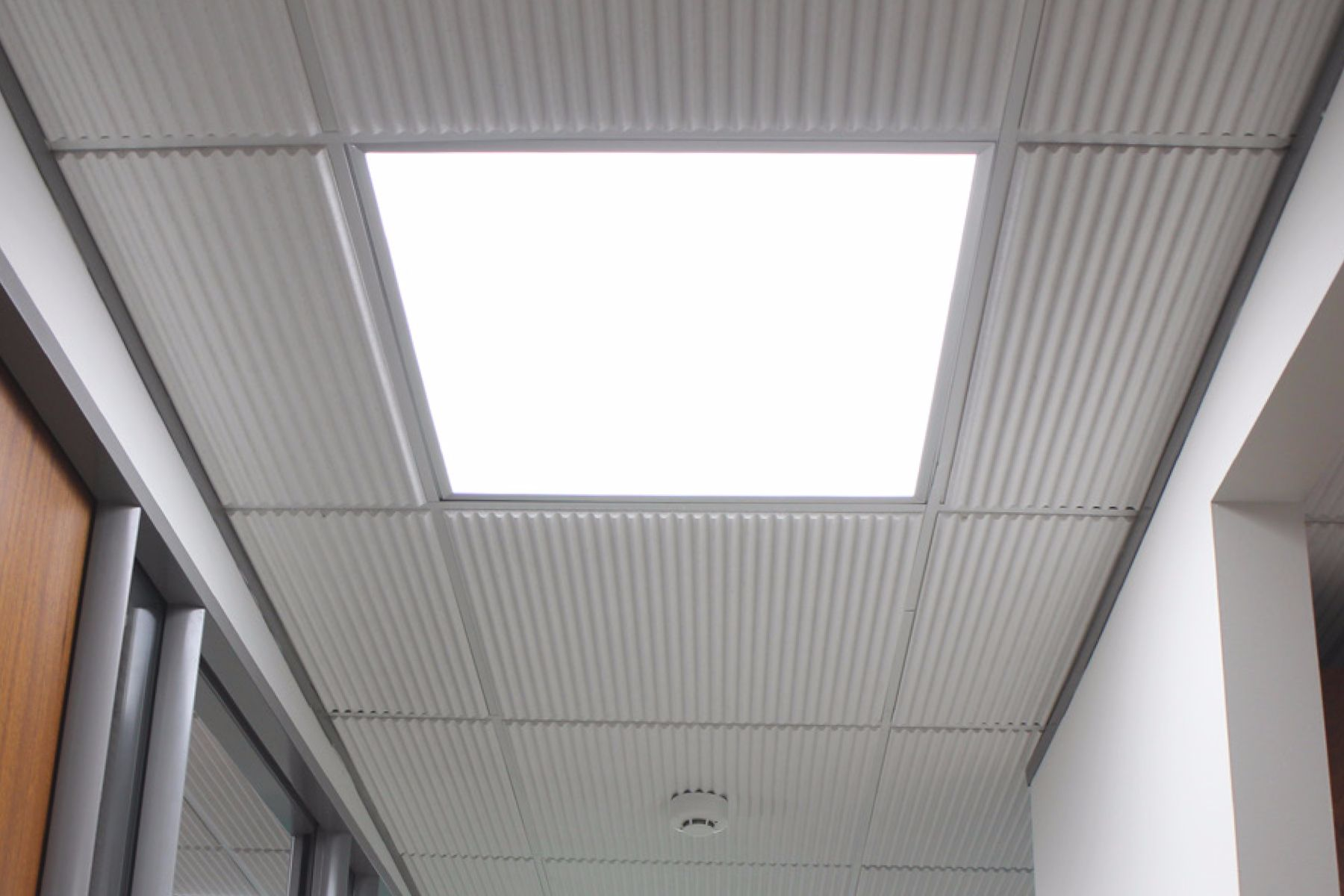 LED Start Panel in ceiling