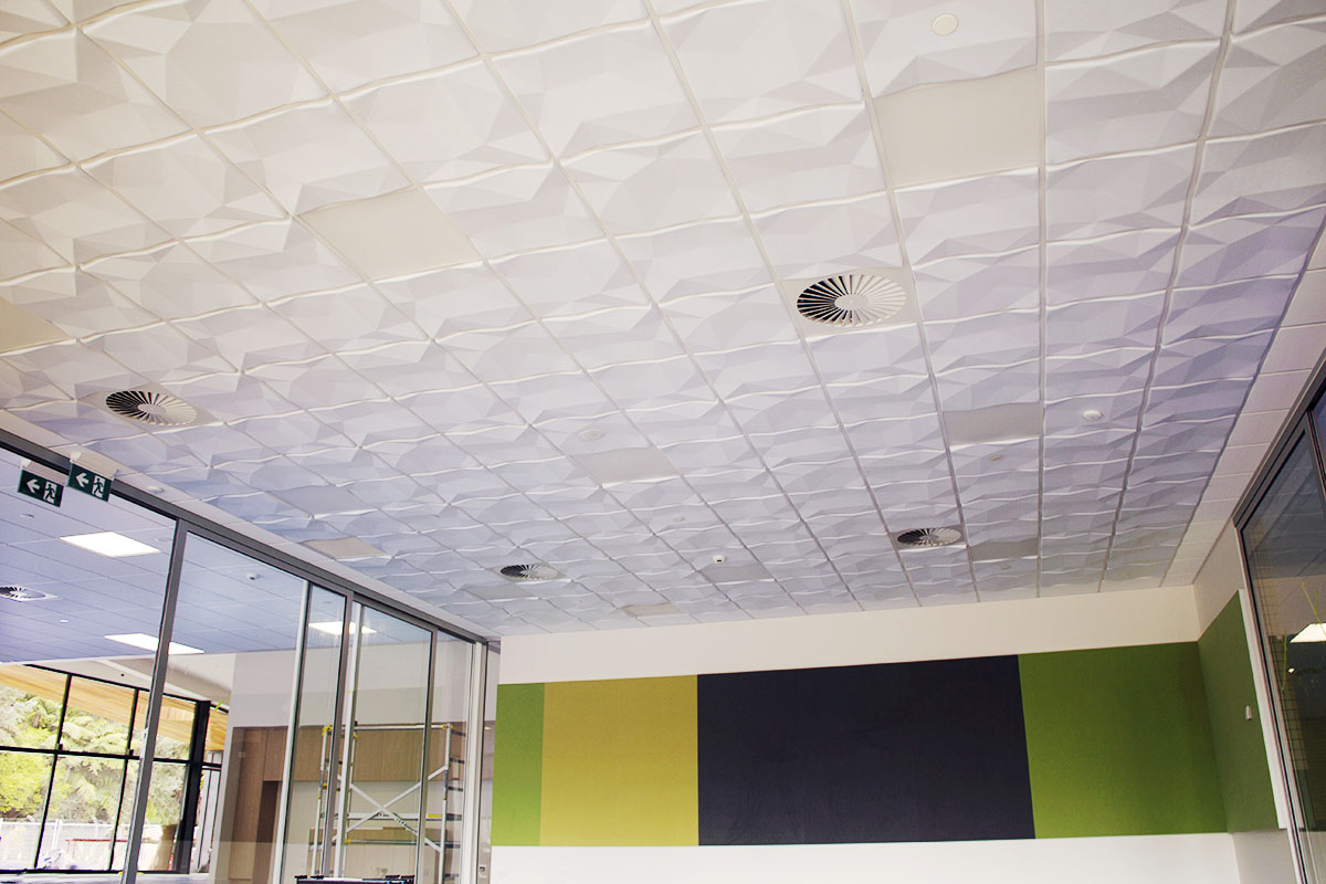 T Amp R Interior Systems Focus 3d Acoustic Tiles Suspended