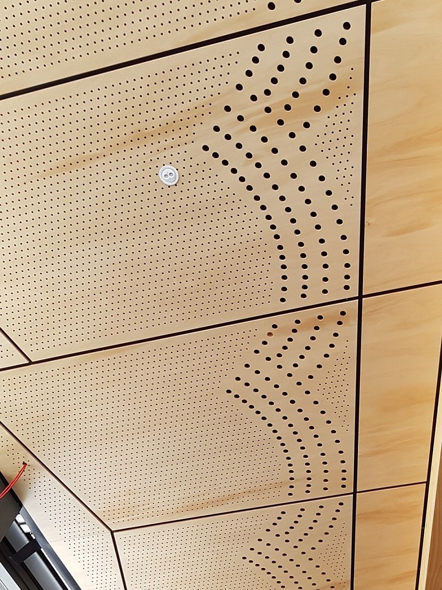 Perforated Timber Panel Ceiling